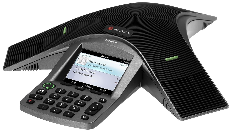 Polycom  Teléfono fijo IP pantalla LCD  Microsoft Lync color negro