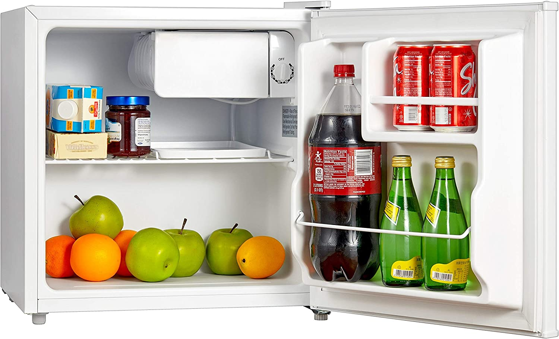 Midea WHS-65LW1 Compact Refrigerator, 1.6 Cubic Feet, White (Renewed)