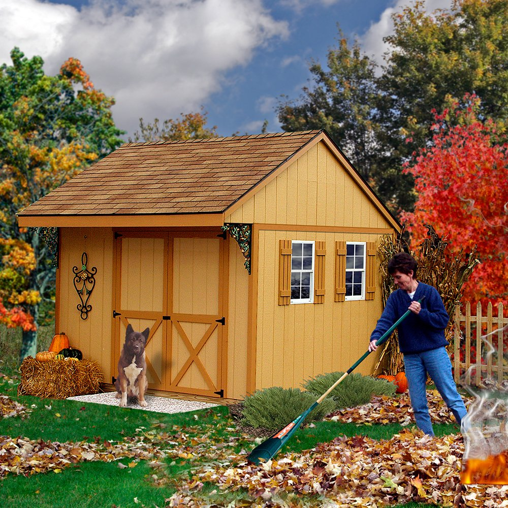 amazoncom best barns northwood 10u0027 x 10u0027 wood shed kit garden u0026 outdoor