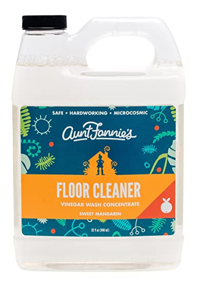 Aunt Fannies Vinegar Wash Floor Cleaner Mandarin, 32 Oz