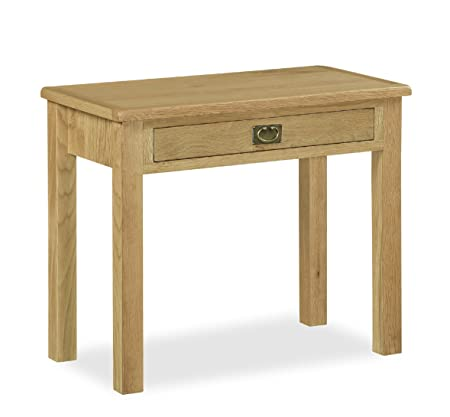 Roseland Furniture Lanner Oak Desk   Laptop Desk   Slim Desk