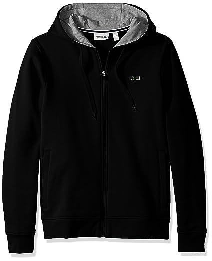 cc68dbe1bb Lacoste Men's Sport Fleece Zip Up Hooded Sweatshirt
