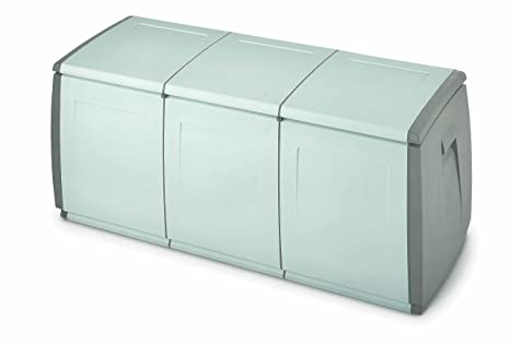 Bauli Plastica Da Esterno.Terry In Out Box 140 Baule In Plastica Grigio Tortora 139 X 54 X