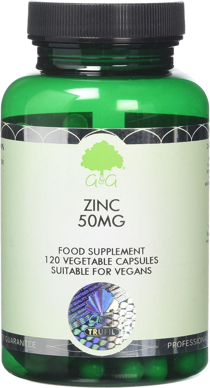 G&G Vitamins 22 mg Zinc (Picolinate) – 120 Vegan Capsules