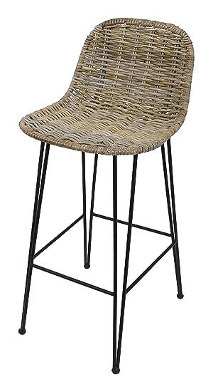 super populaire 2a018 00887 amelex 67 Chaise de Bar Haute en rotin, Style Rustique ...