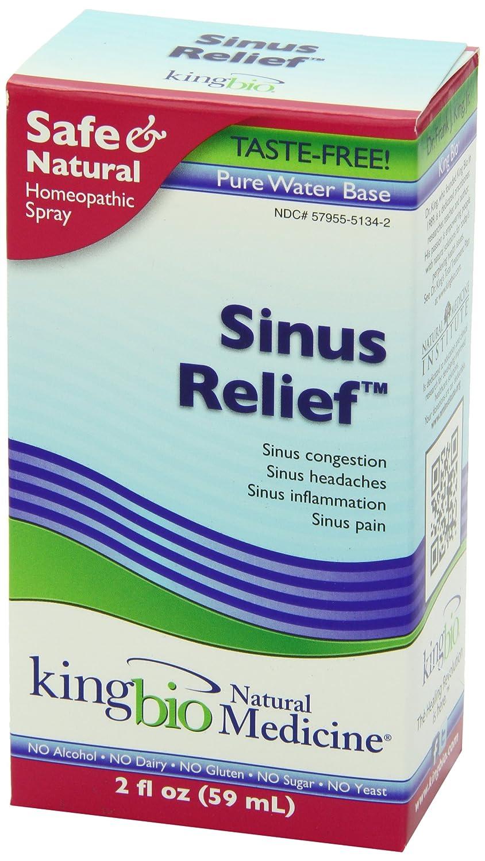 King Bio Homeopathic Sinus Relief Spray - 2 fl oz: Amazon ca