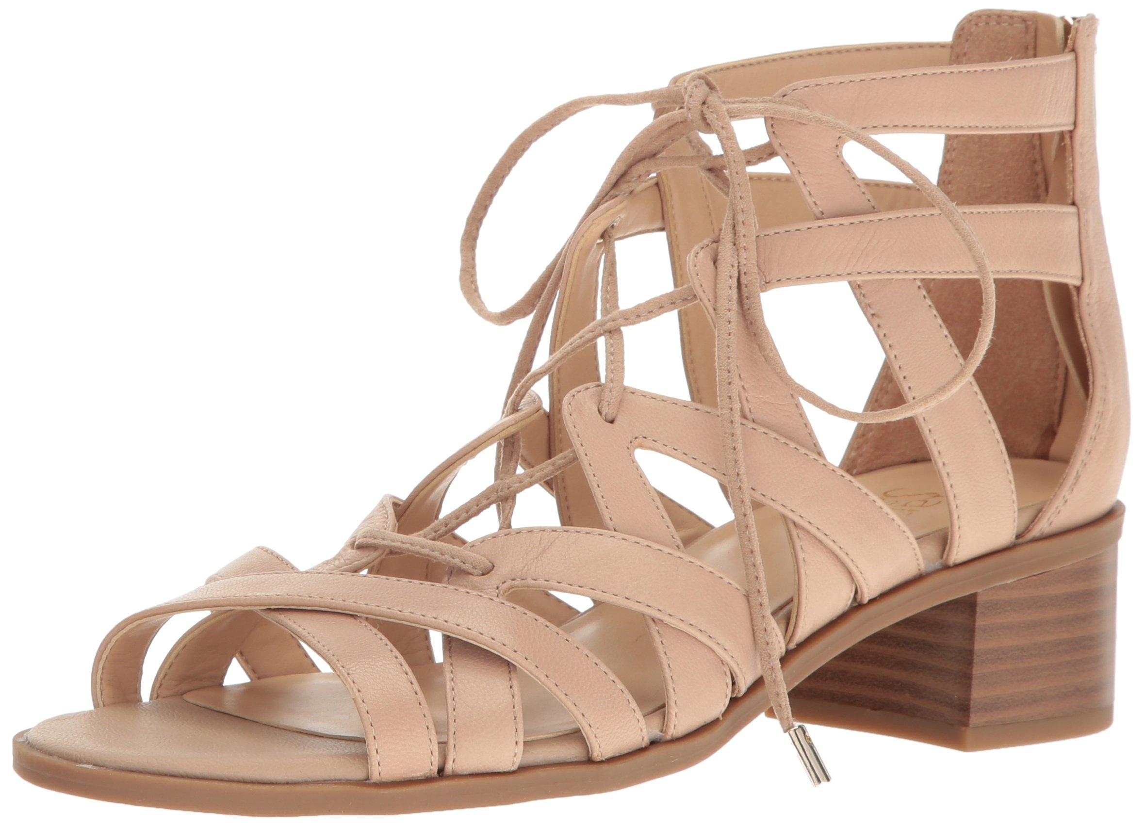 Franco Sarto Women's Ocean Heeled Sandal, Soft Beige, 9 Medium US