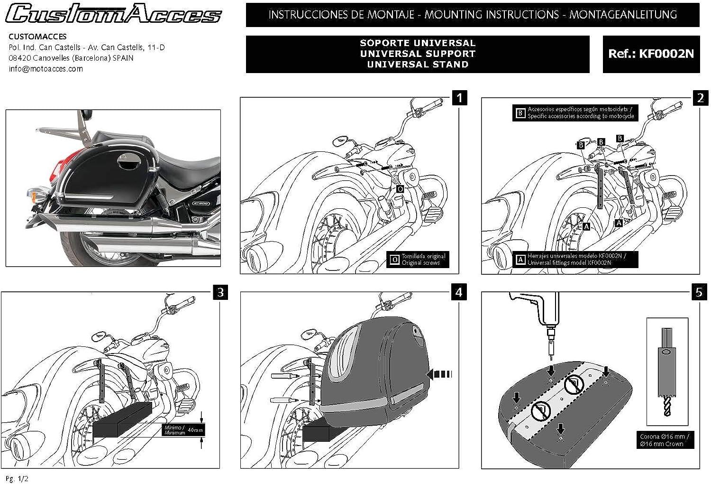 Paar je 33L+ Haltesatz Victory HIGH Ball VEGAS//11 11-17 Customacces AZ0463N Seitenkoffer Touring