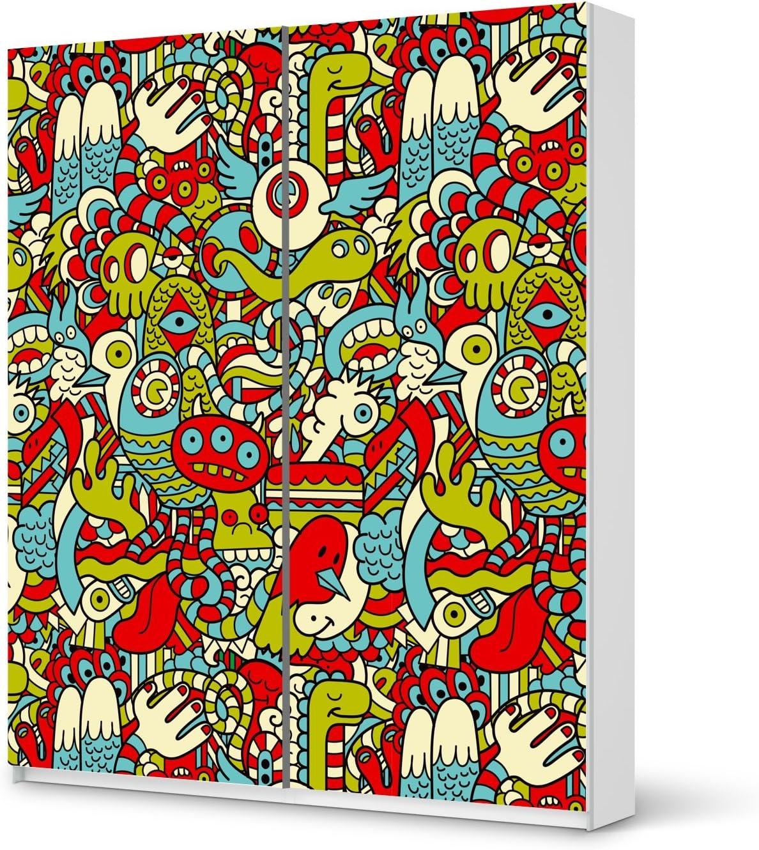 Adorno para IKEA PAX armario de 236 cm de altura - puerta corredera | Juego de muebles de diseño de adhesivo pegatina de los muebles de más de pegar | La vida