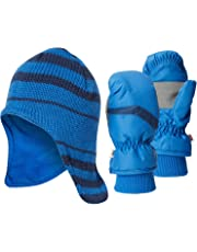 Hot Paws Boys Thermal Hat and Ski Mitten or Glove Set - (Toddler/Little Kid)