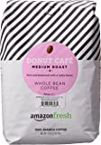 AmazonFresh Donut Cafe Whole Bean Coffee, Medium Roast, 32 Ounce