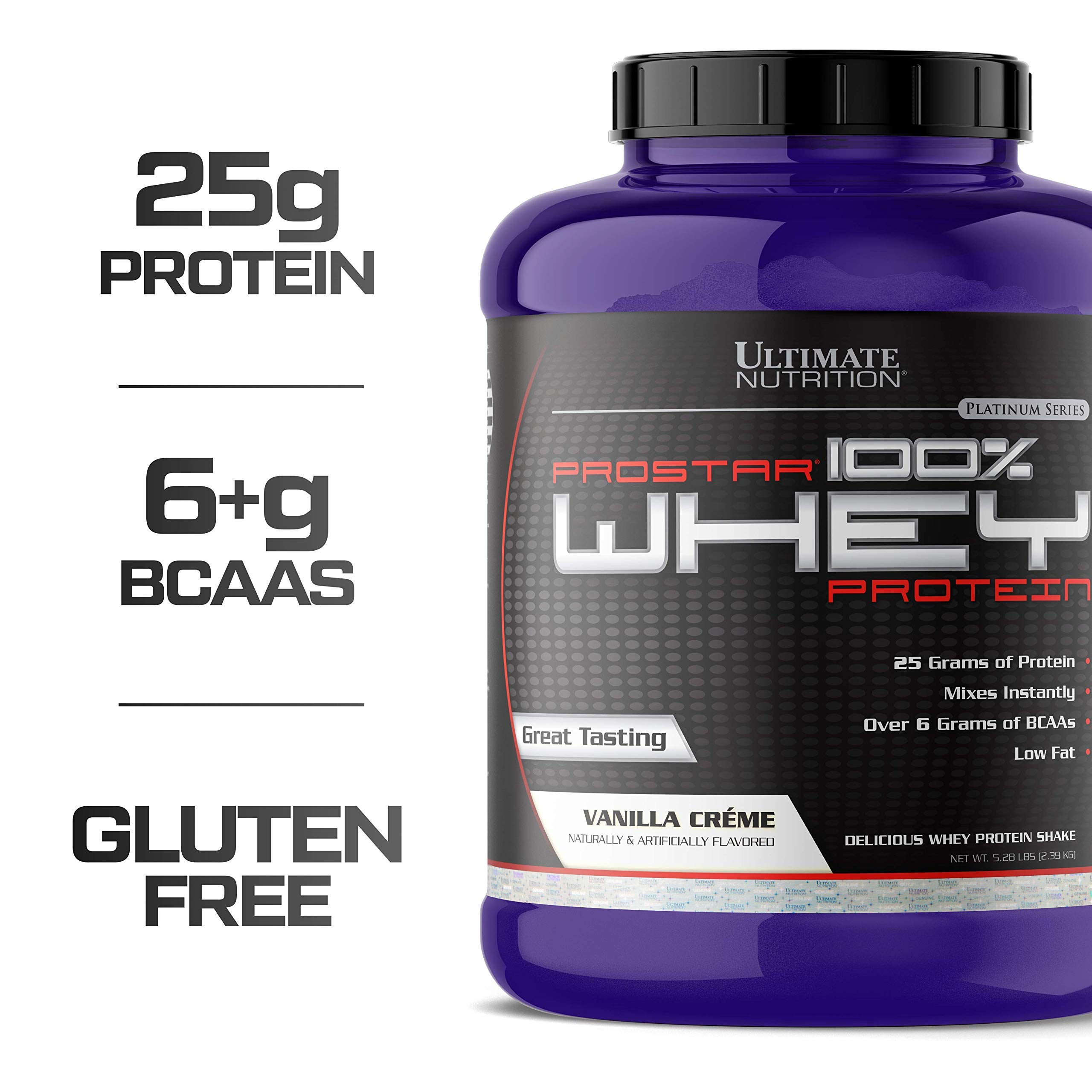 Ultimate Nutrition PROSTAR 100% Whey Protein Powder - Low Carb, Keto Friendly - 80 Servings, Vanilla Crème, 5.28 Pounds by Ultimate Nutrition
