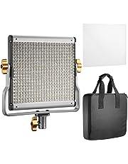 Neewer LED Luz Vídeo  Bicolor Regulable con Soporte U Kit, para Foto Estudio Grabación de Vídeo YouTube, 480 bombillas LED, 3200-5600K, CRI 96 (Enchufe UE)