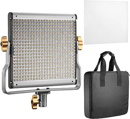 Todo para el streamer: Neewer - Lámpara LED de vídeo Regulable con Soporte en U para Studio Youtube, Set de iluminación de vídeo, Marco de Metal Duradero, 480 Bombillas LED, 3200-5600 K, CRI 96+