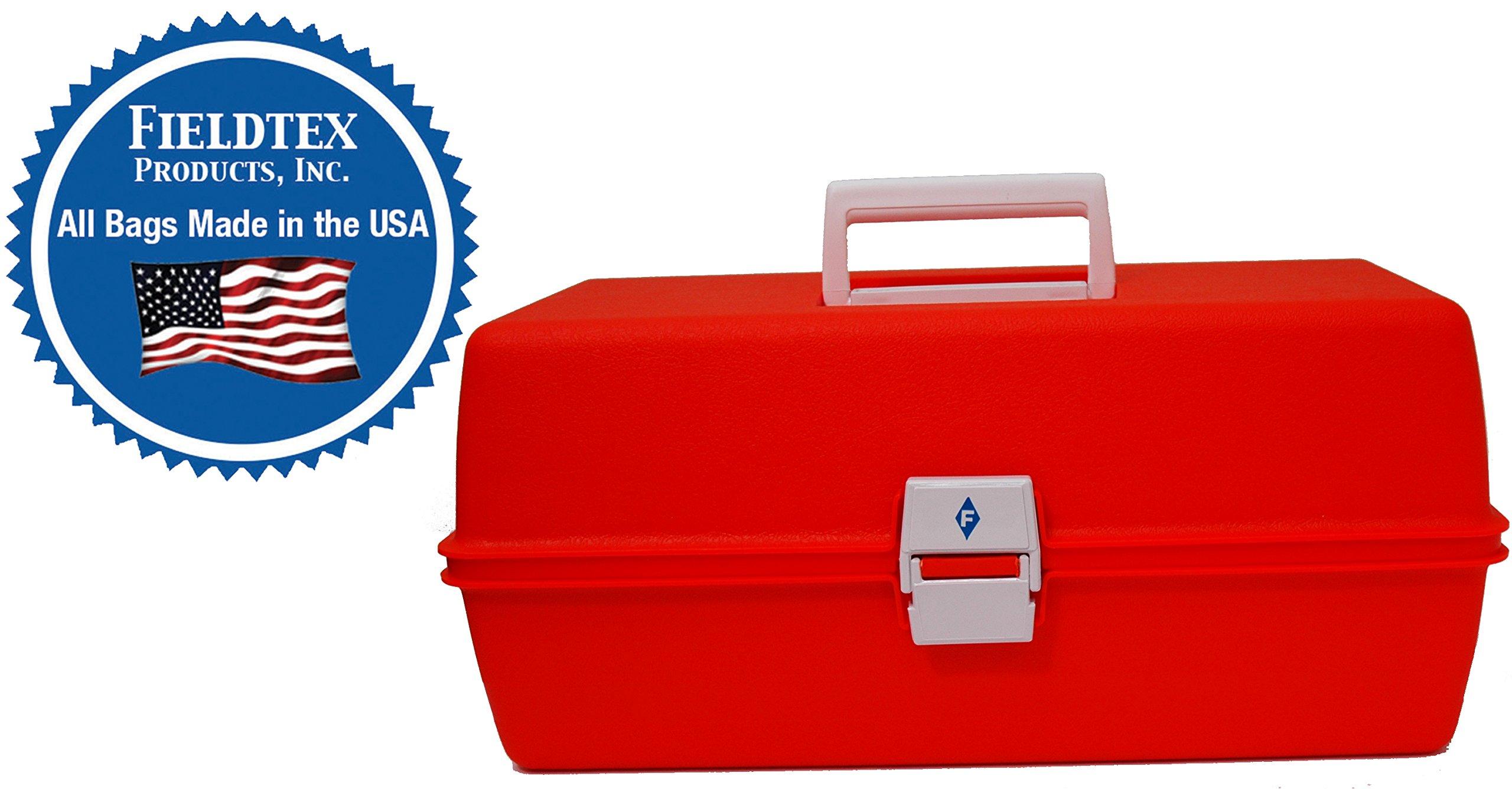 Orange Plastic Athletic Trainer's First Aid Kit (case w/Supplies)