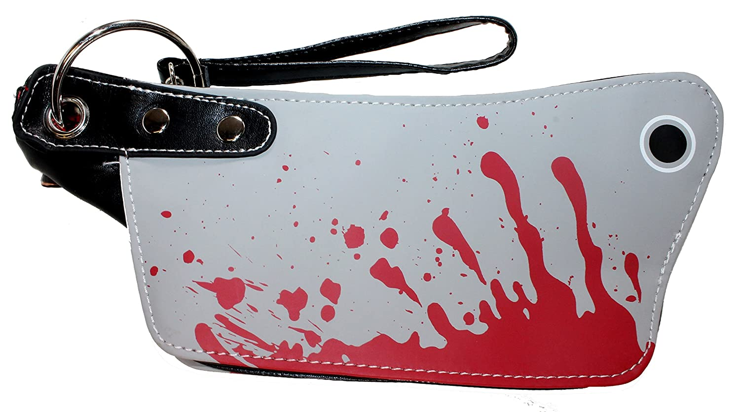 mini bloody cleaver clutch purse halloween handbag kreepsville horror fashion handbags amazoncom - Halloween Handbag