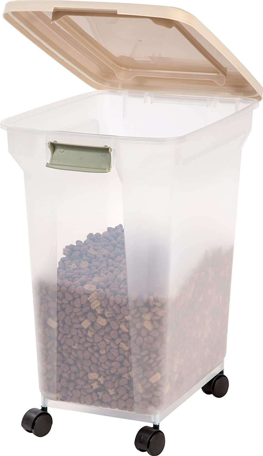 Pet Supplies : IRIS Premium Airtight Pet Food Storage Container, 42 Pounds,  Almond : Pet Food Storage Products : Amazon.com