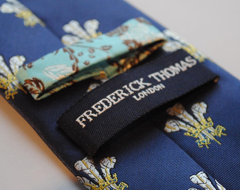 Frederick Thomas Azul Marino Corbata con Príncipe De Gales Plumas ...
