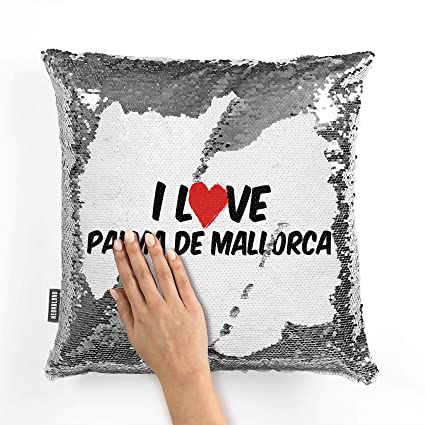 Amazon.com: NEONBLOND Mermaid Pillow Cover I Love Palma de ...