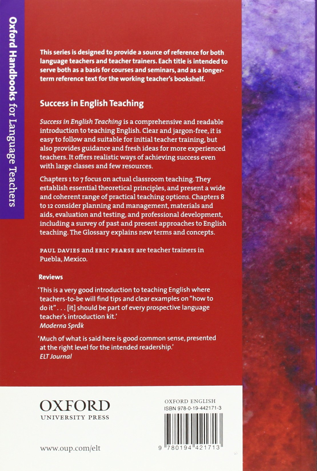 Success in English Teaching: A complete introduction to teaching English at  secondary school level and above Oxford Handbooks for Language Teachers: ...