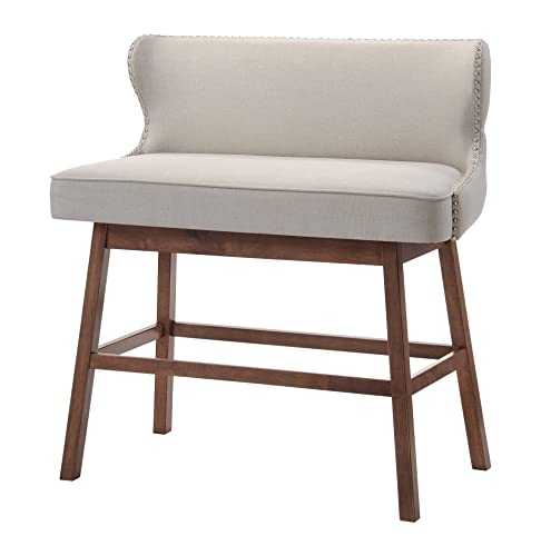 Baxton Studio Bar Bench, Beige