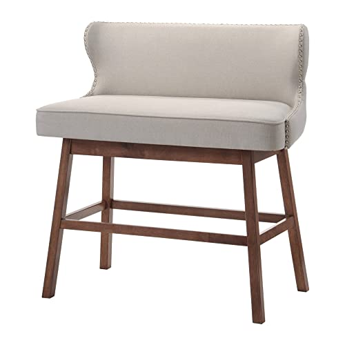 Baxton Studio Madelyn Beige Linen Modern Banquette Bench: Upholstered Benches: Amazon.com