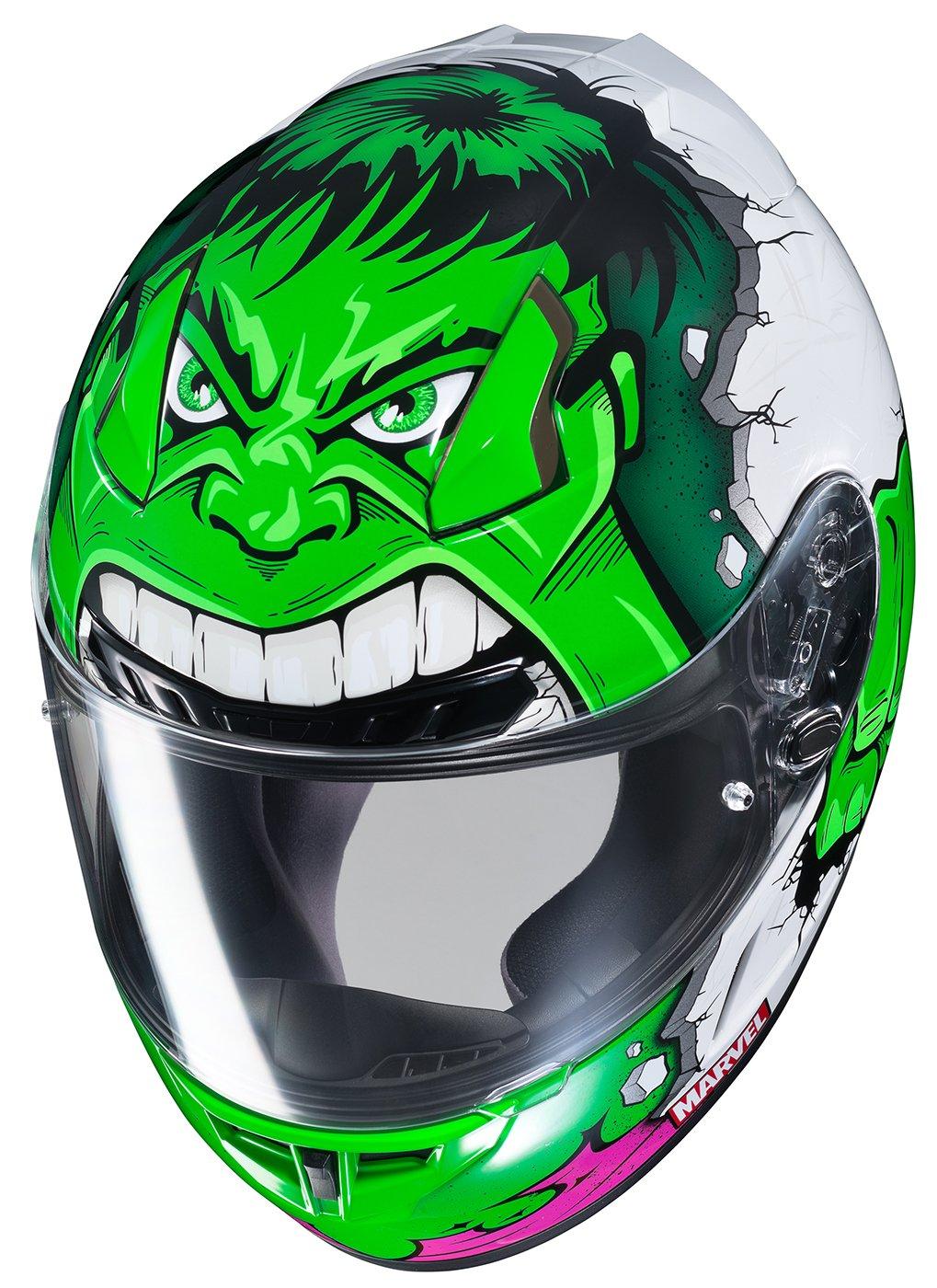 HJC CL-17 Marvel Hulk Mens Street Motorcycle Helmet MC-4//Small 0851-2304-04