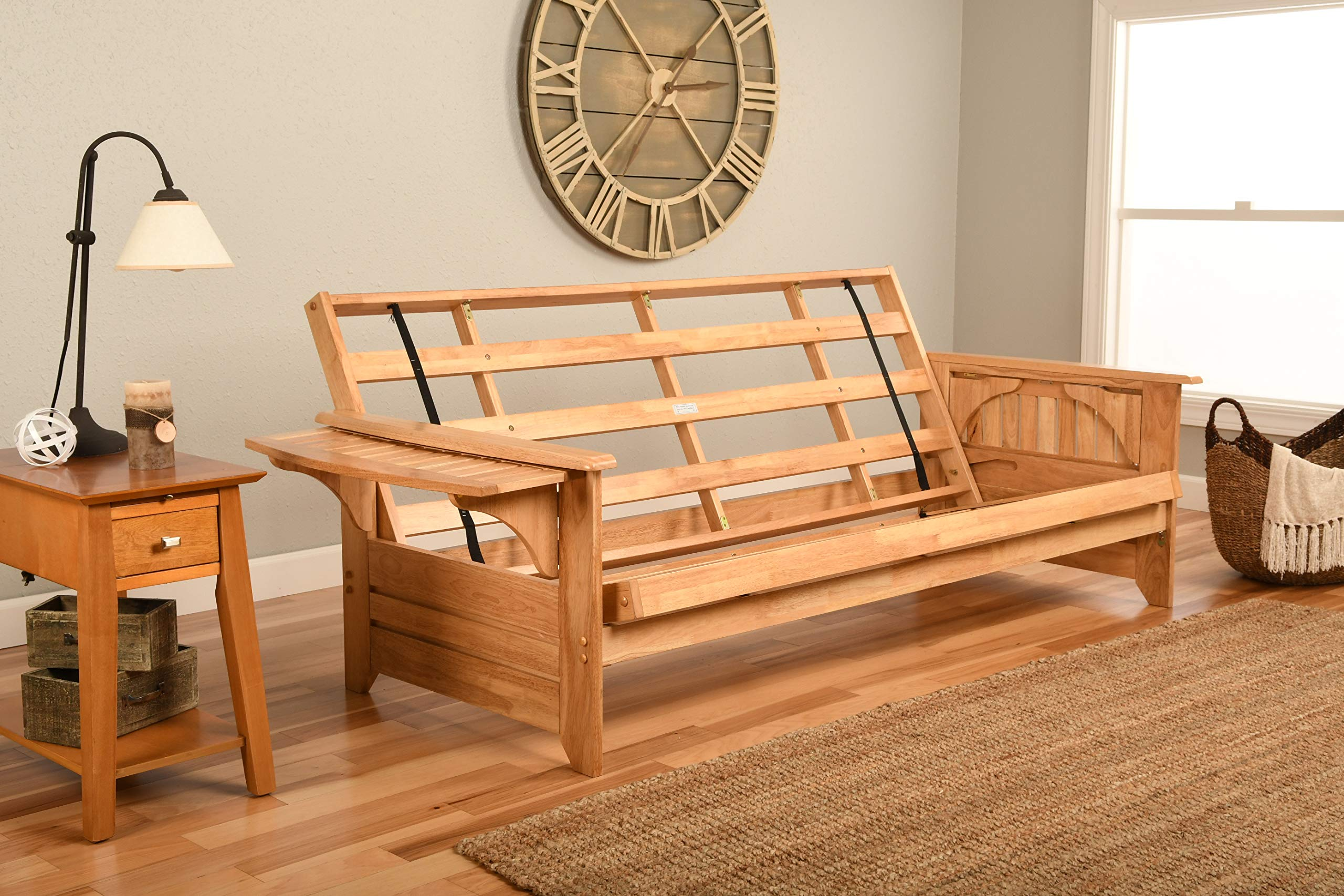 Phoenix Futon Sofa Frame in Natural Finish by Kodiak Futons