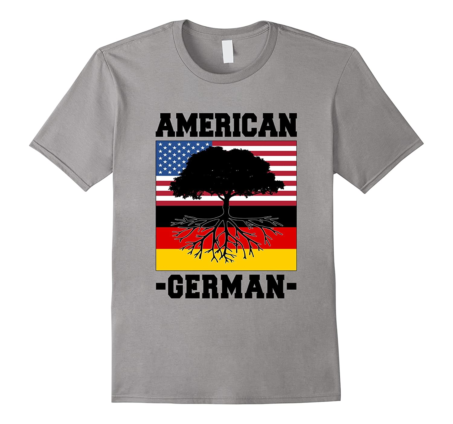 GERMAN AMERICAN FLAG T-shirt Germany Deutschland Grown Root-CD