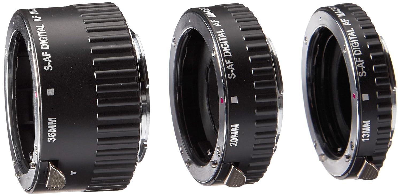 Polaroid Auto Focus DG Macro Extension Tube Set (12mm, 20mm, 36mm) For Nikon Digital SLR Cameras PLEXTN