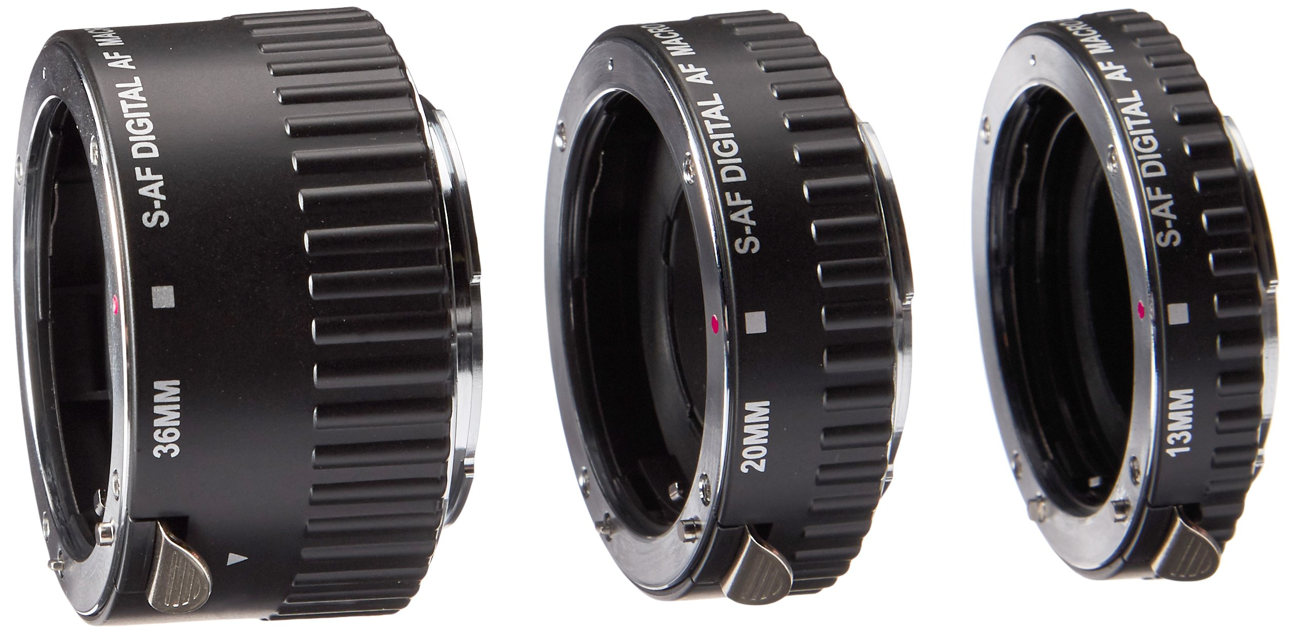 Polaroid Auto Focus DG Macro Extension Tube Set (13mm, 20mm, 36mm) For Sony Alpha Digital SLR Cameras by Polaroid
