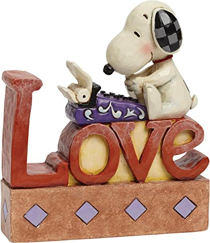 Jim Shore for Enesco Peanuts Snoopy Love Word Fig Figurine, 5