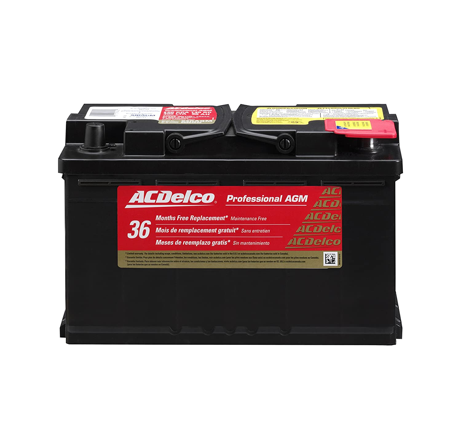 1. ACDelco 94RAGM Professional AGM Automotive BCI Group 94R Battery