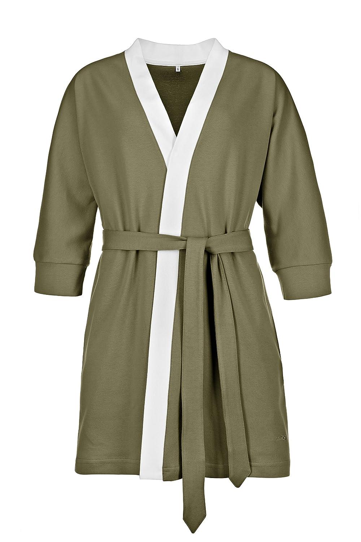 Eleganter Morgenmantel Kimono in sehr Hochwertiger Ausführung, Kurze Form mit ¾-Arm B079NCT5VN Morgenmntel