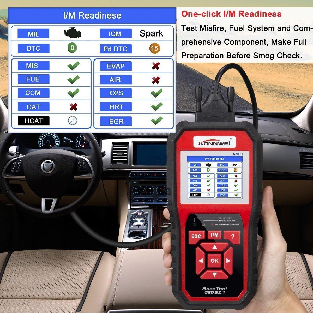 KONNWEI OBD2 Scanner OBDII Auto Diagnostic Code Scanner Universal Vehicle Engine O2 Sensor Systems Scanner OBD2 EOBD Scanners Tool Check Engine Light Code Reader for all OBD II Protocol Car Since 1996 by KONNWEI (Image #6)