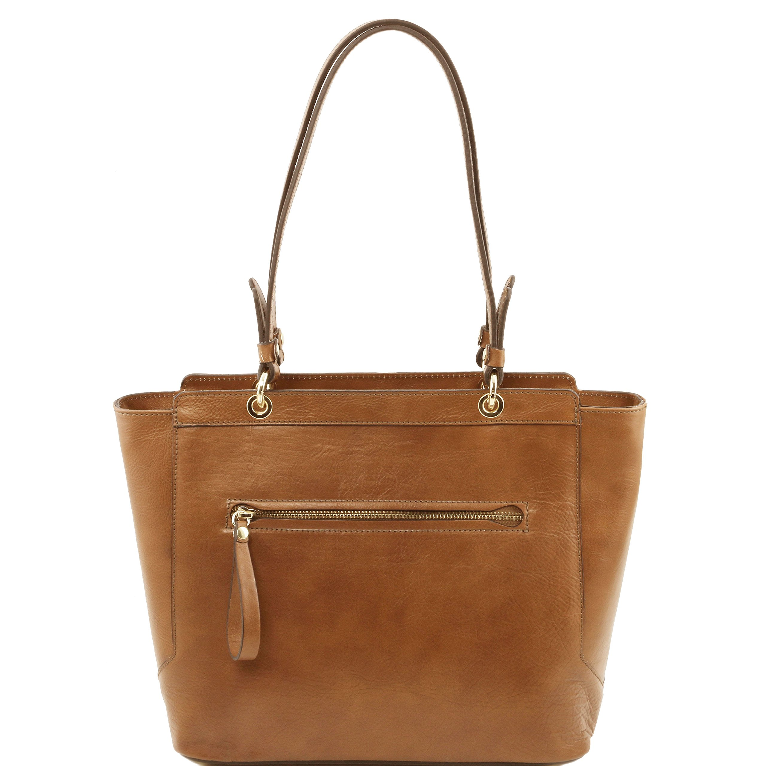 Tuscany Leather TL NeoClassic Leather tote with two handles Dark Taupe