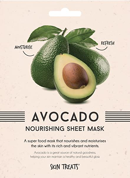 Tratamientos para la piel:, Avocado Nourishing Superfood Sheet Face Mask, 2 unidades de