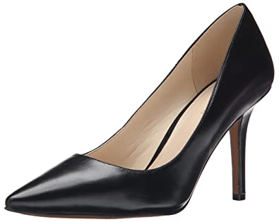 Nine West Women's Jackpot Leather Dress Pump, Black Leather, ...