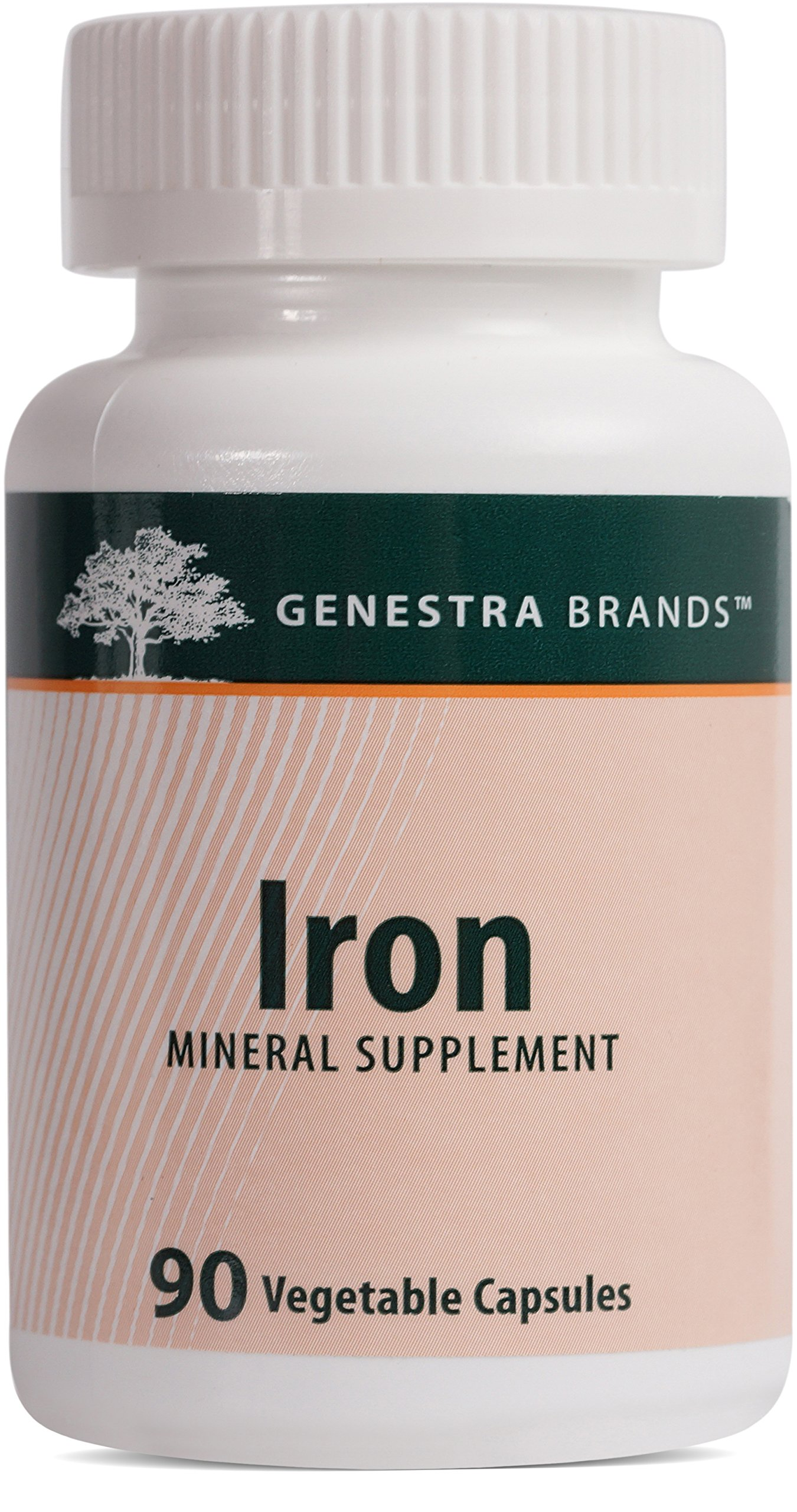 Genestra Brands - Iron - Mineral Supplement - 90 Vegetable Capsules