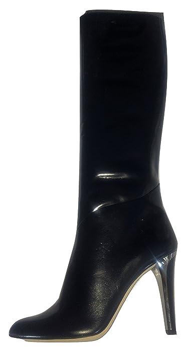 f087fecfb32e Jimmy Choo Navy Blue  quot BEACH quot  Soft Patent Leather Stiletto Boots  ...