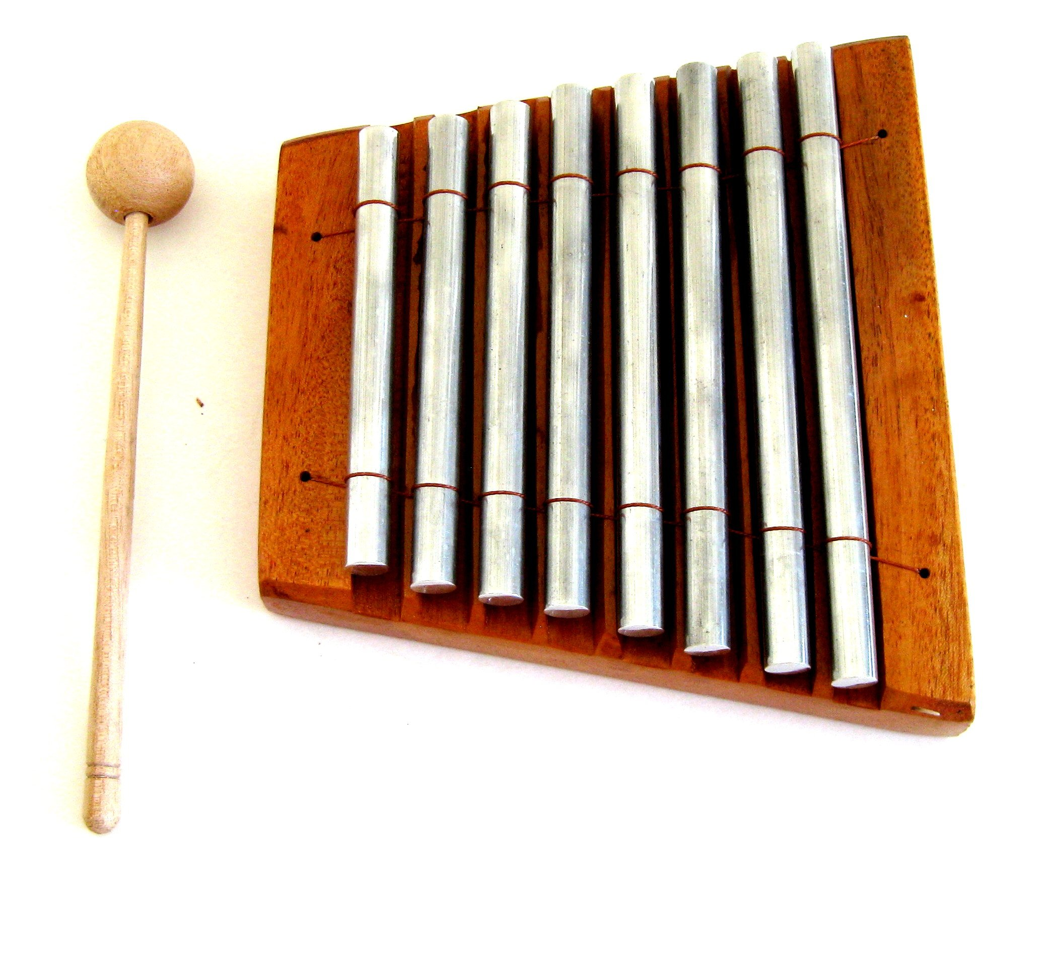 Meditation ZEN Energy Chime Wood Percussion Table Top Chime, 8 Bars - Xylophone - Premium Quality - PROFESSIONAL SOUND- JIVE BRAND by Jive