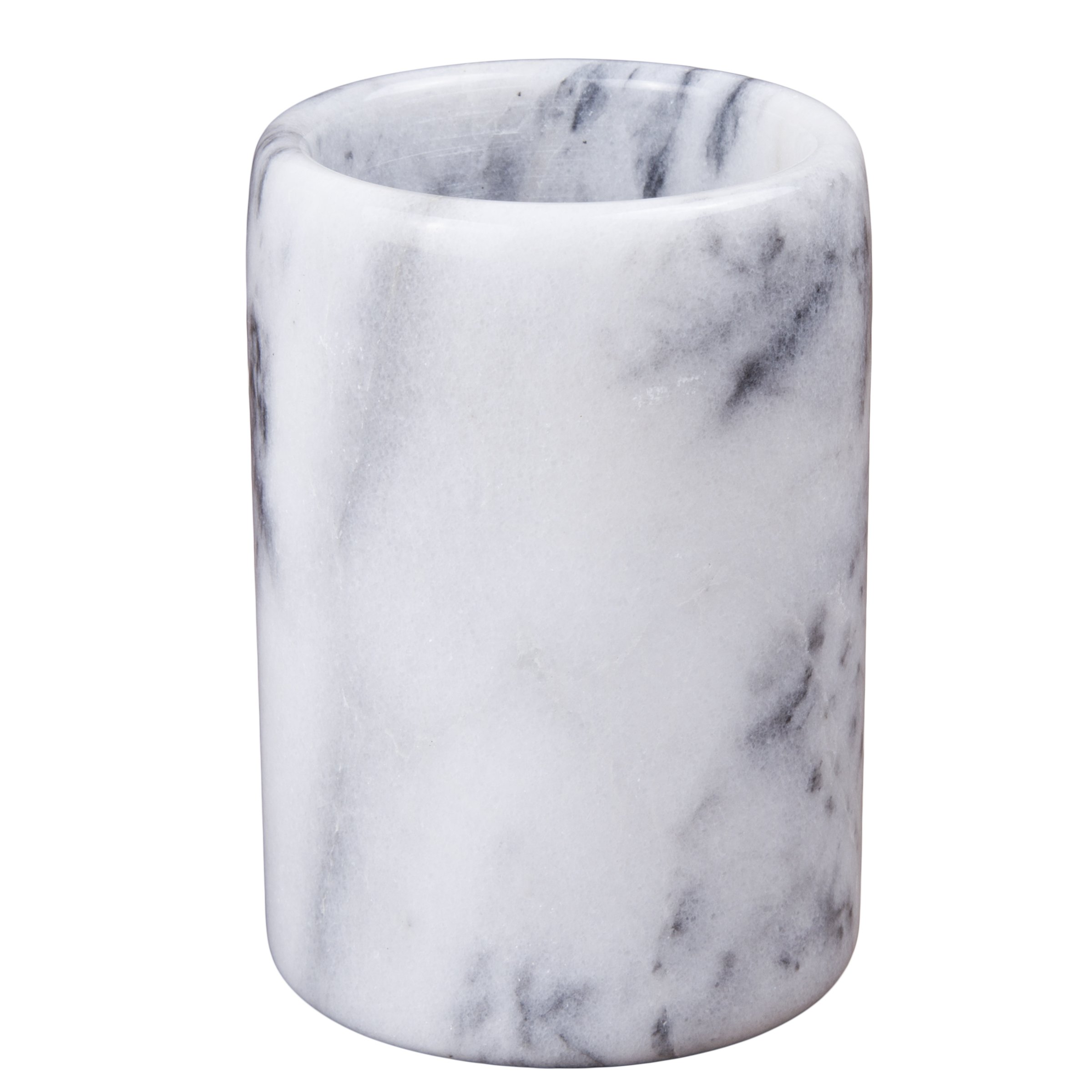 Creative Home 83001 Natural White Marble Pen/Pencil Holder Cupp