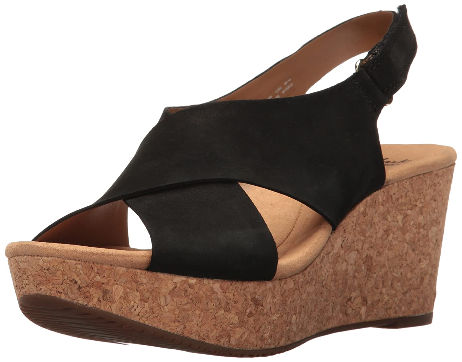 80ff2df99864 Amazon.com | Clarks Women's Annadel Eirwyn Wedge Sandal | Platforms & Wedges