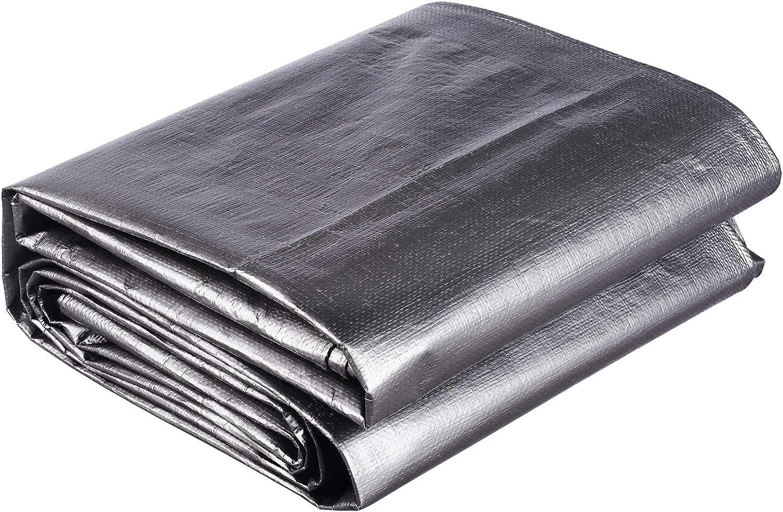 Laneetal B/âche de Protection en poly/éthyl/ène 280g//m/² b/âche imperm/éable Gris avec /œillets Couverture de Haute densit/é 2x3m