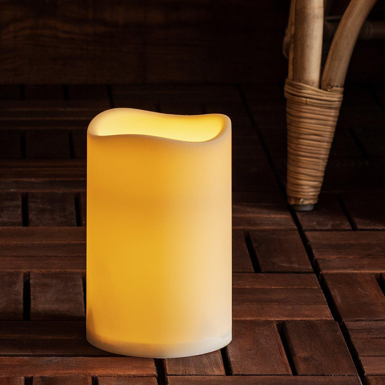 LED Außenkerze Gartendeko mit Zeitschaltuhr 17, 5cm Batteriebetrieb Lights4fun