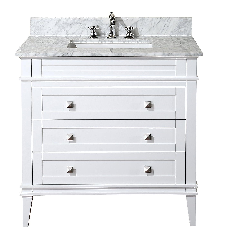 kitchen bath collection kbc l36wtcarr eleanor bathroom vanity with