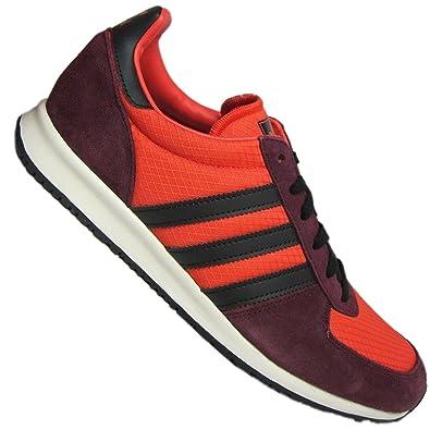 low priced 8435f 8ca71 Adidas Adistar Racer Schuhe Turnschuhe Sneaker Herren Leder rot-bordo NEU