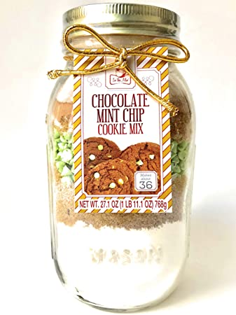 Chocolate Mint Chip Cookie Christmas Gift Mason Jar In The Mix 27 1oz