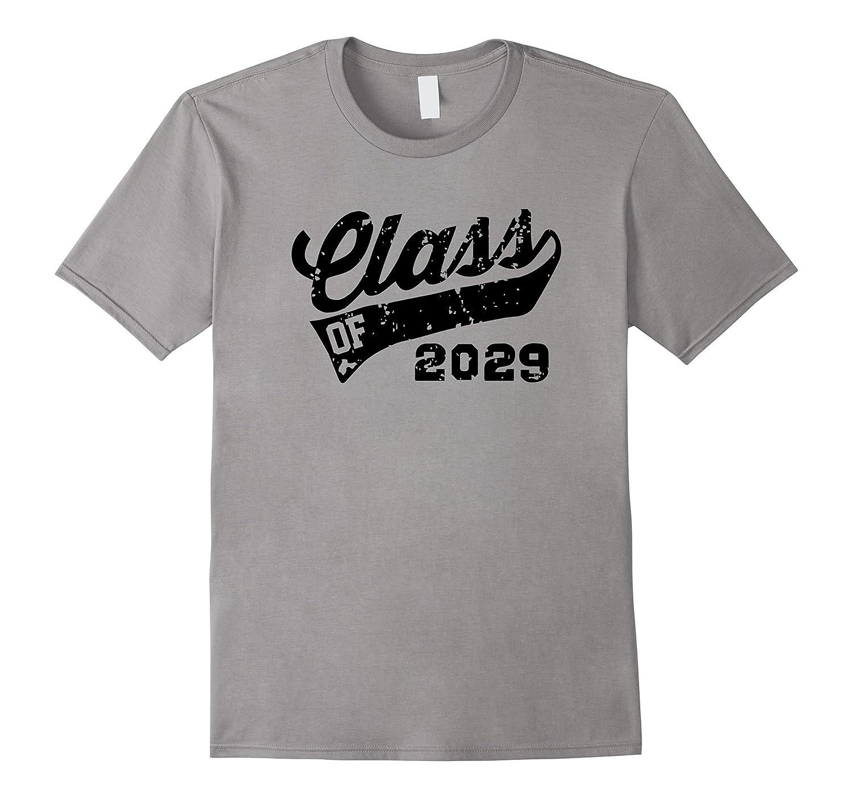 Class of 2029 Back To School Kindergarten Black T-Shirt-TD