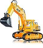 Ferngesteuerter Bagger – Voll funktionsfähiger RC-Spielzeug-Bagger mit 7 Kanälen, Lichtern und Geräuschen - Fernsteuerungs auto von ThinkGizmos (geschützte Marke)